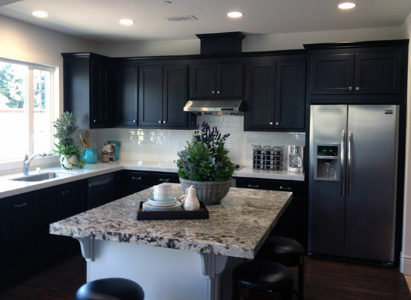 Kitchen Tile Paint Black